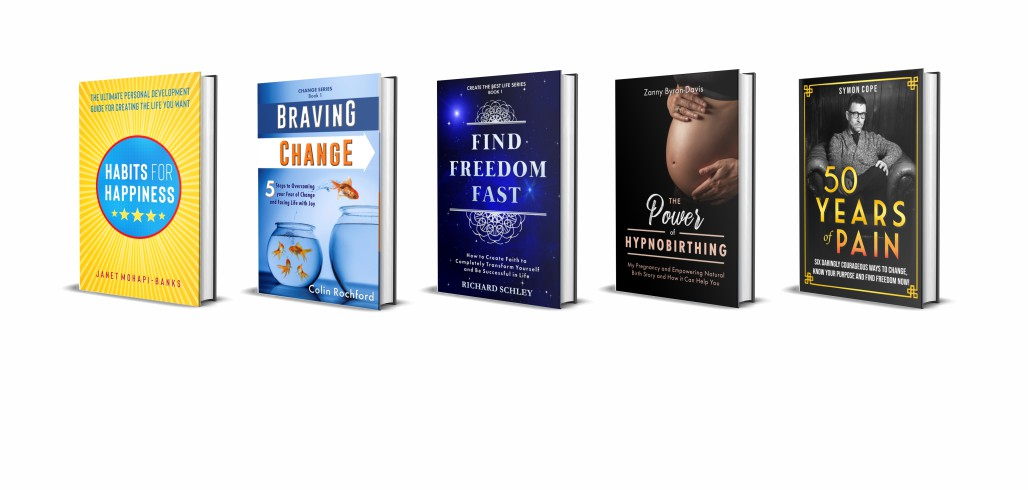selection of nonfiction book cover designs